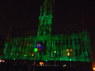 Animations beamed onto City Hall