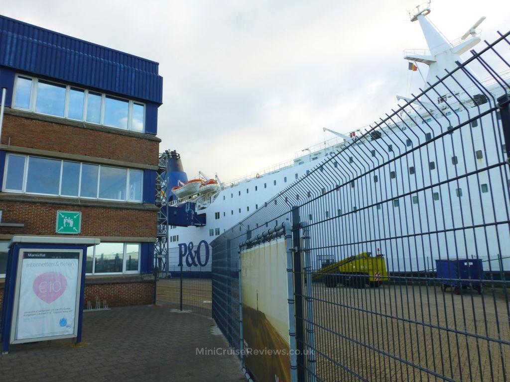 Pride of Bruges docked at Zeebrugge Port