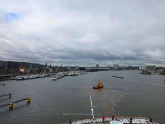 Balmoral sailing into Amsterdam