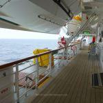 Balmoral's teak promenade deck