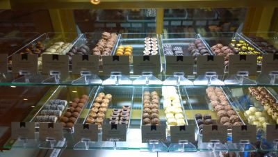 Chocolates at The Bookmark Café
