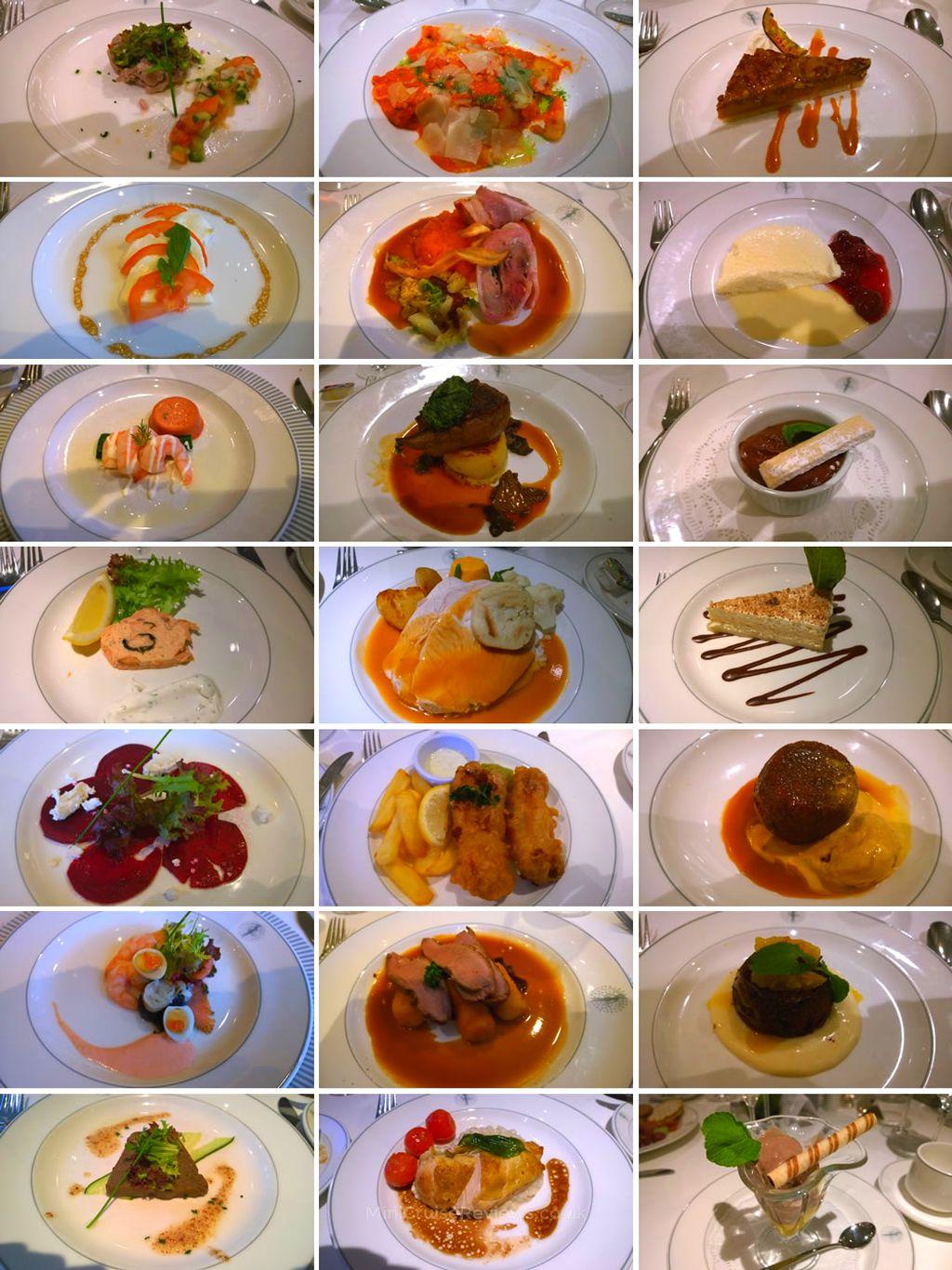 Dinner on Fred Olsen's Balmoral