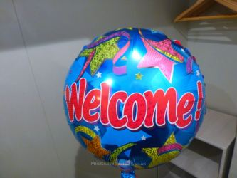 A Welcome balloon for kids