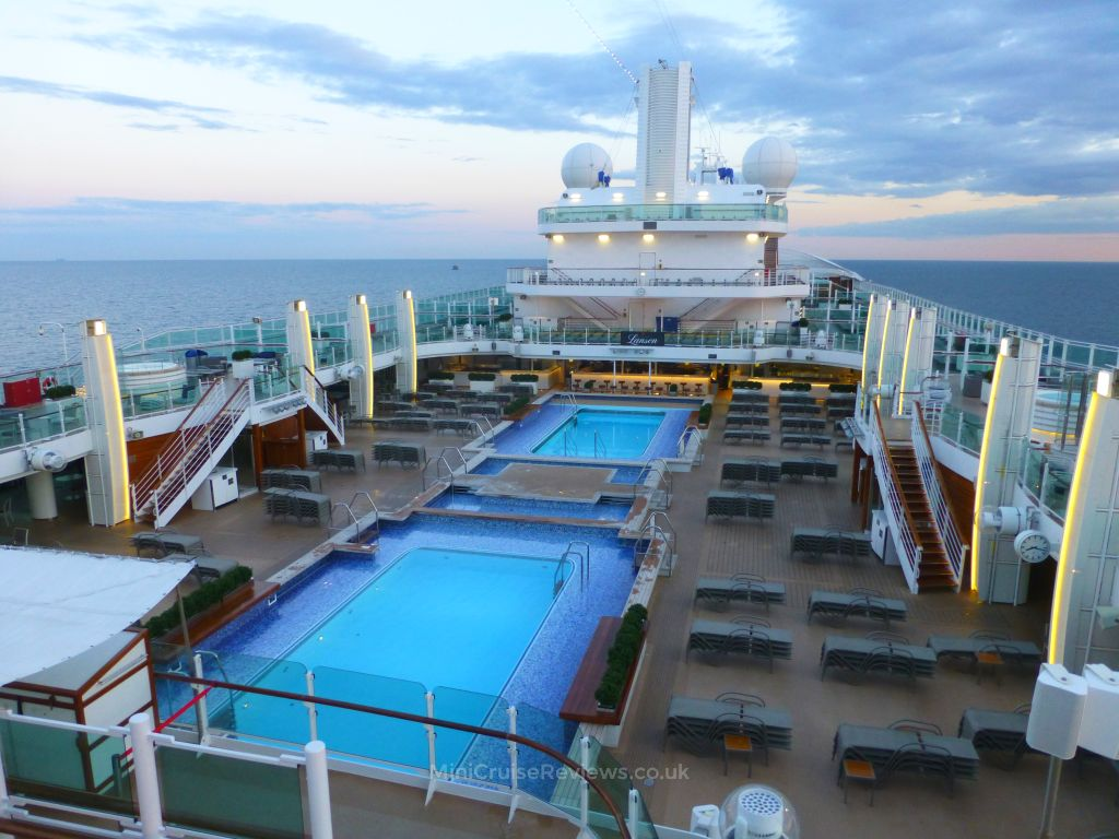 The Lido Deck in the evening