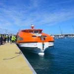 Britannia's tender boat