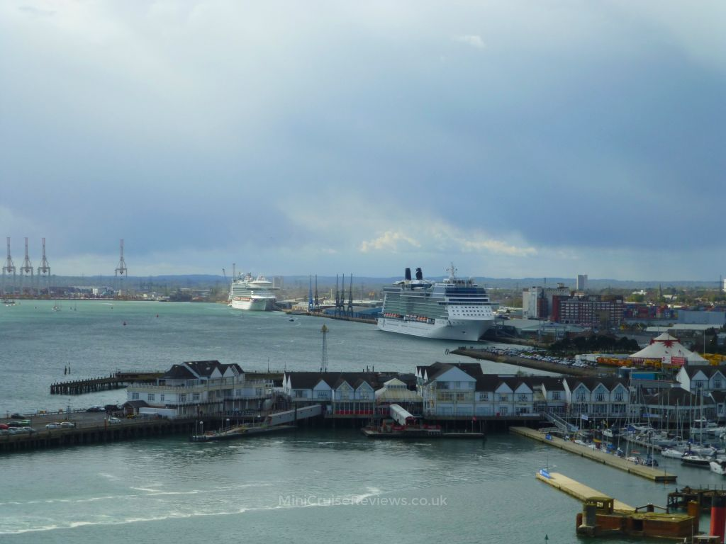 Looking over to Mayflower Cruise Terminal and Ocean Cruise Terminal