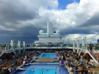 The Lido Deck as we departed Southampton