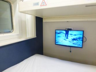 The TV in the Club Double Bed & 2 Bunk