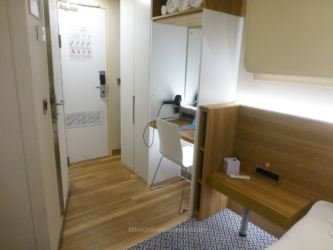 Wardrobe and desk in the Club Double Bed & 2 Bunk